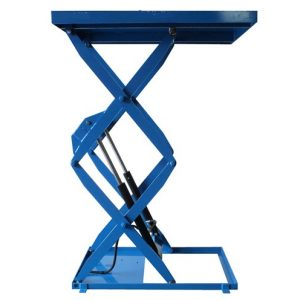 Hydraulic double scissor lift table