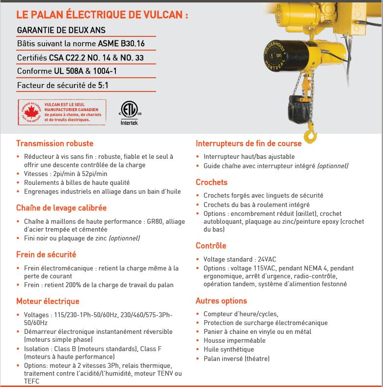 New electric hoist 2 ton – 10' chain – 230 volts